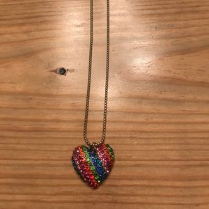 Betsey Johnson Accessories - Betsey Johnson Rainbow Necklace and Ring